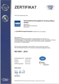 Zertifikat ISO de