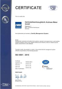 Zertifikat ISO en