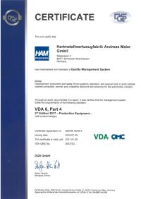Zertifikat VDA en